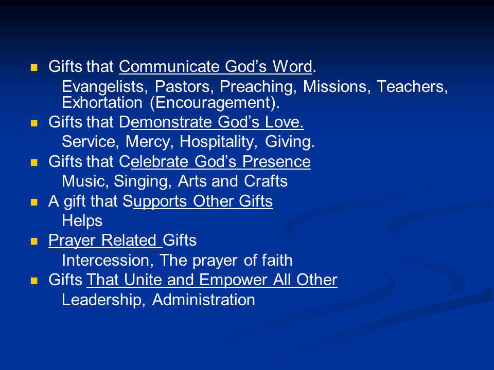 Gifts that Communicate God's Word.