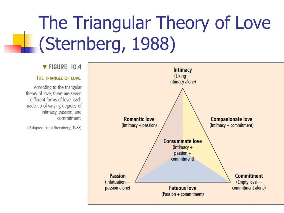 The Triangular Theory of Love (Sternberg, 1988)