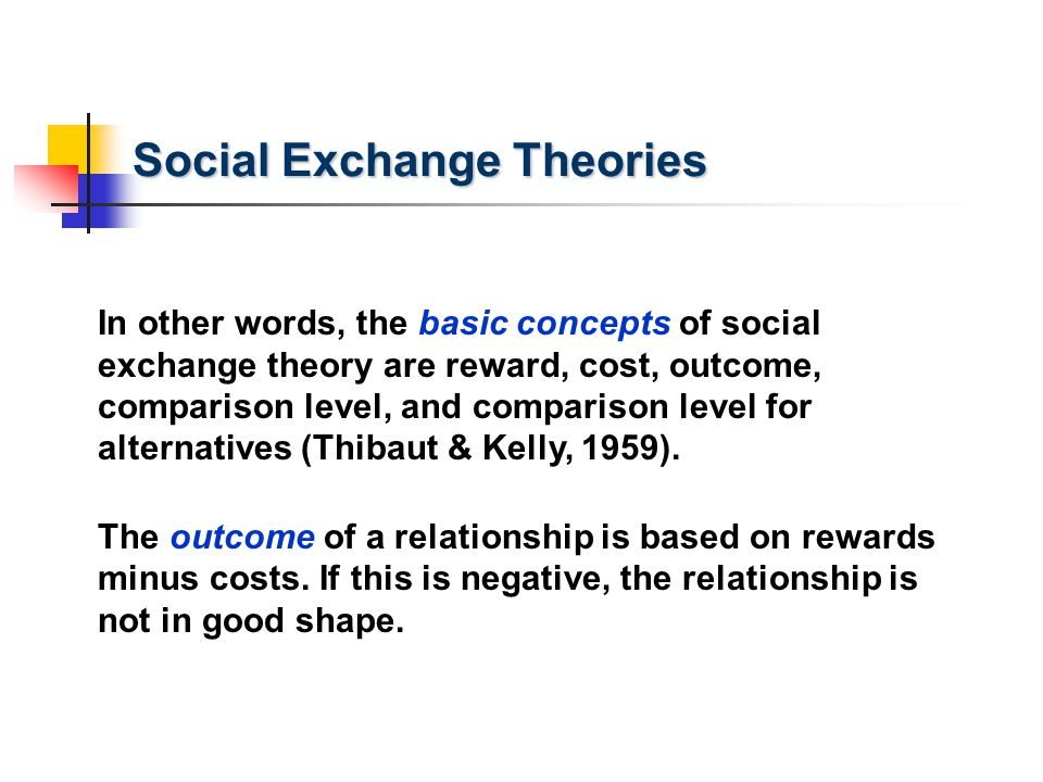 Social Exchange Theories