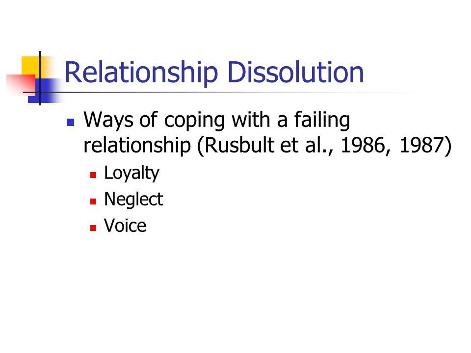 Relationship Dissolution