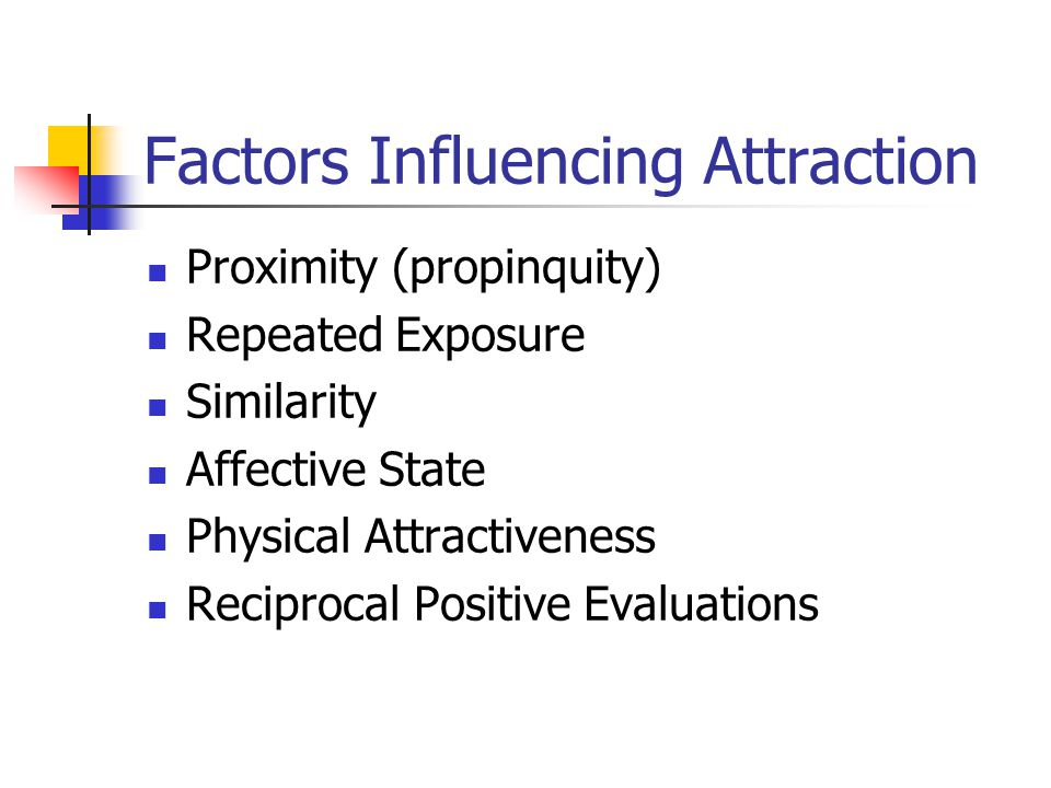 Factors Influencing Attraction