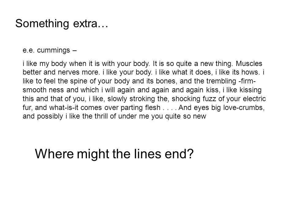Where might the lines end