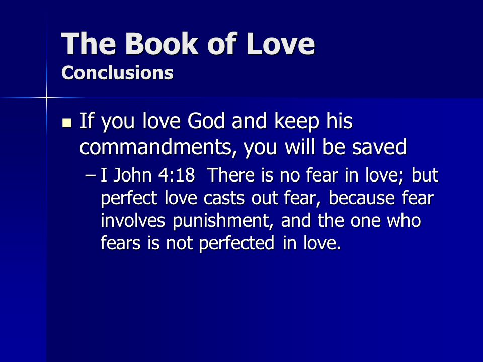 The Book of Love Conclusions
