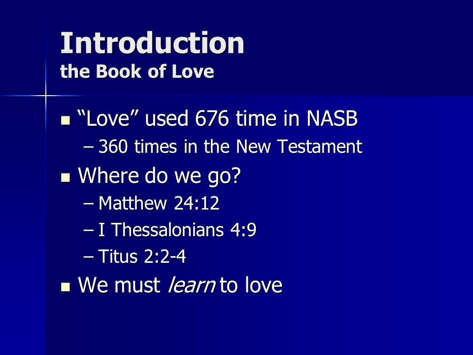 Introduction the Book of Love