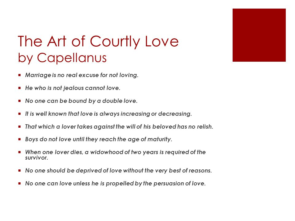 The Art of Courtly Love by Capellanus