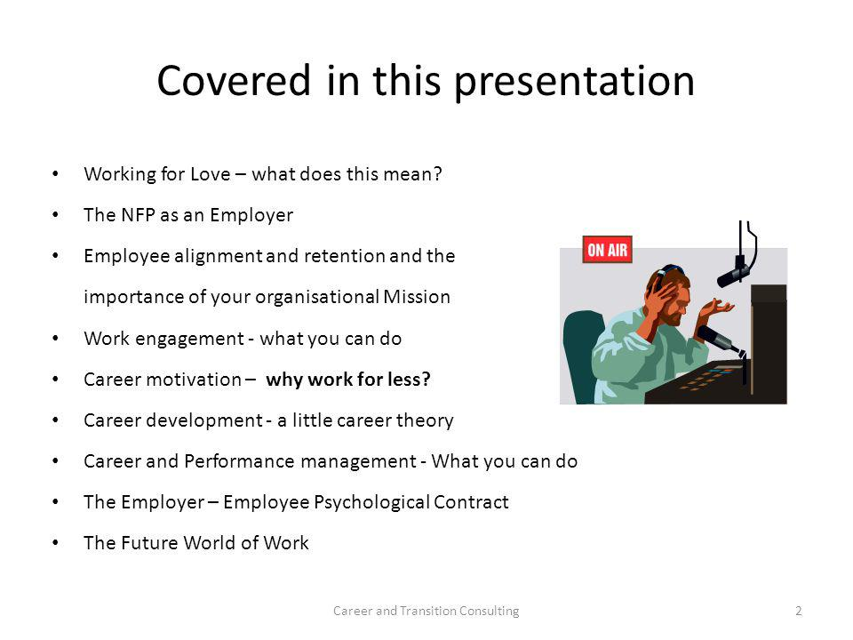 Covered in this presentation