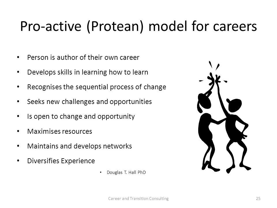 Pro-active (Protean) model for careers