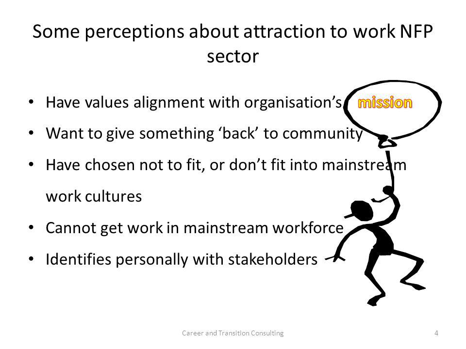 Some perceptions about attraction to work NFP sector