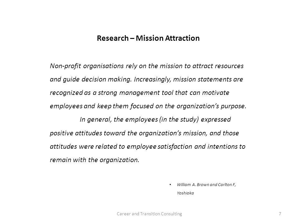 Research – Mission Attraction