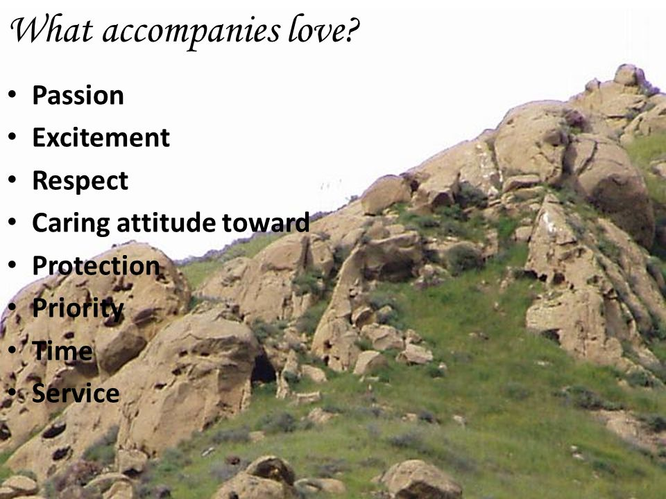 What accompanies love Passion Excitement Respect