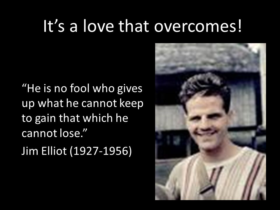 It's a love that overcomes!