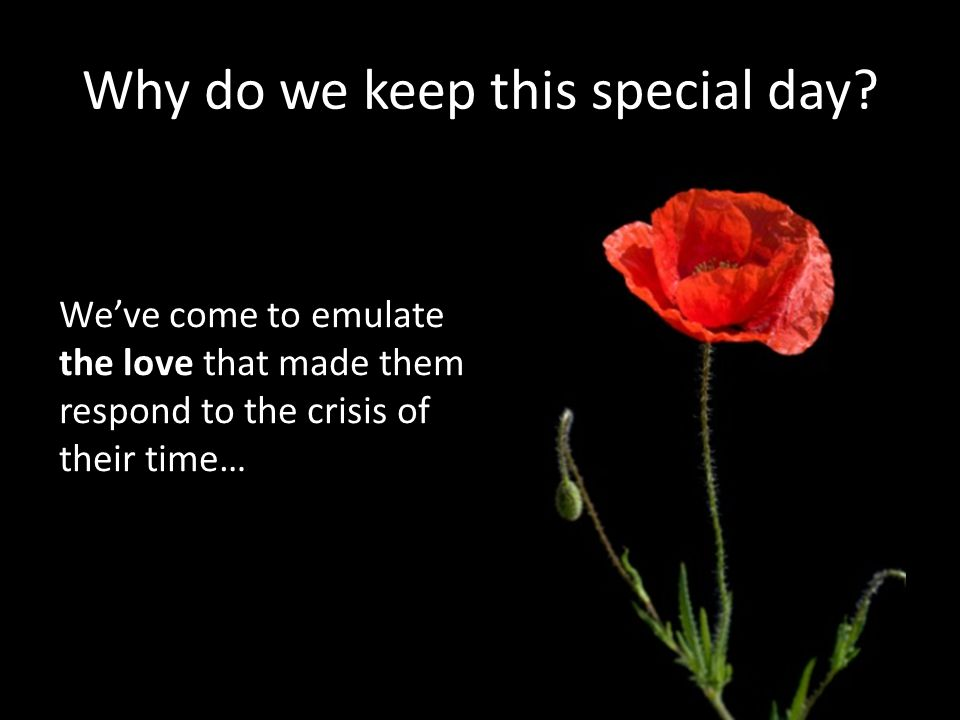 Why do we keep this special day