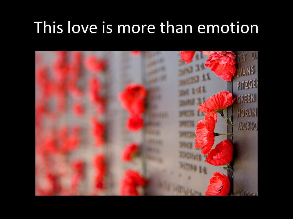This love is more than emotion