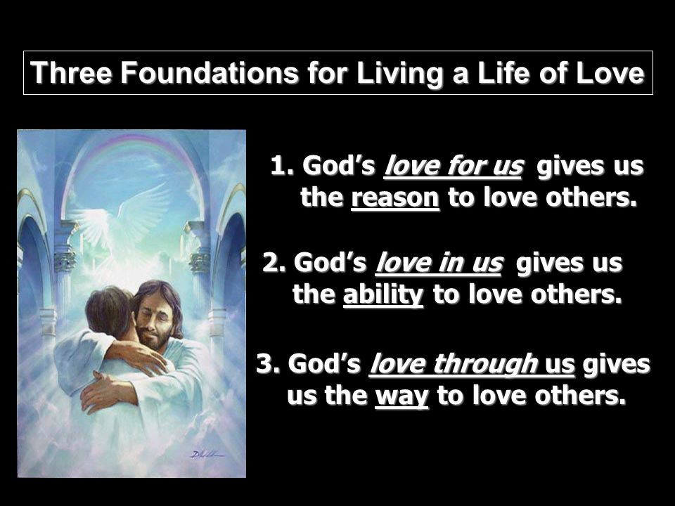 Three Foundations for Living a Life of Love