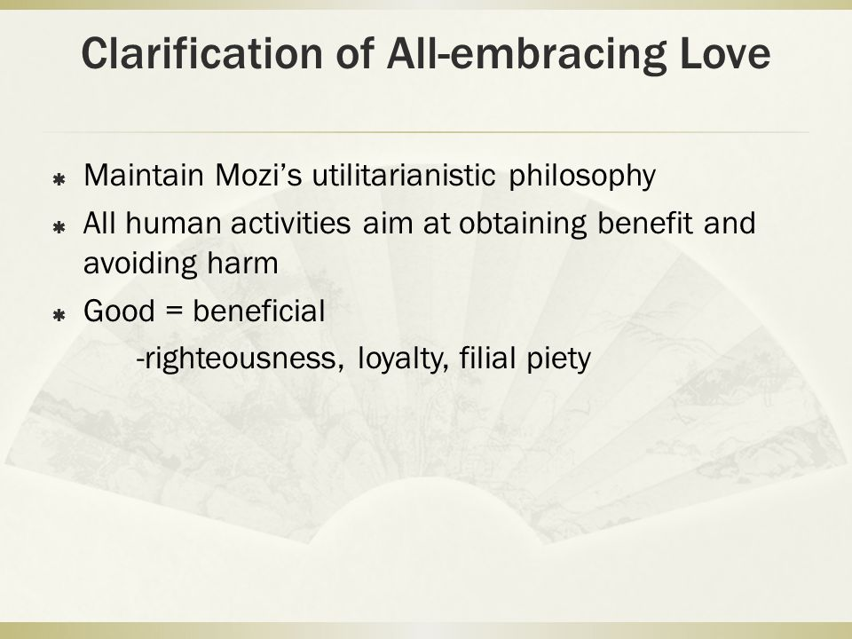 Clarification of All-embracing Love