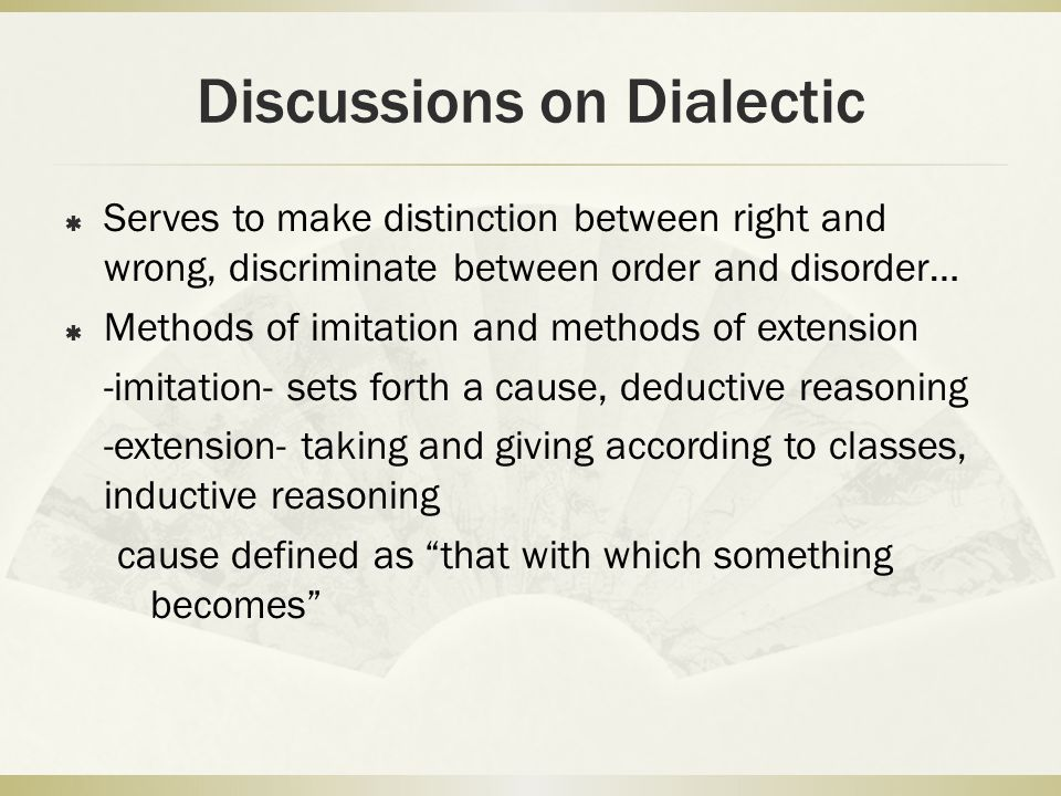 Discussions on Dialectic
