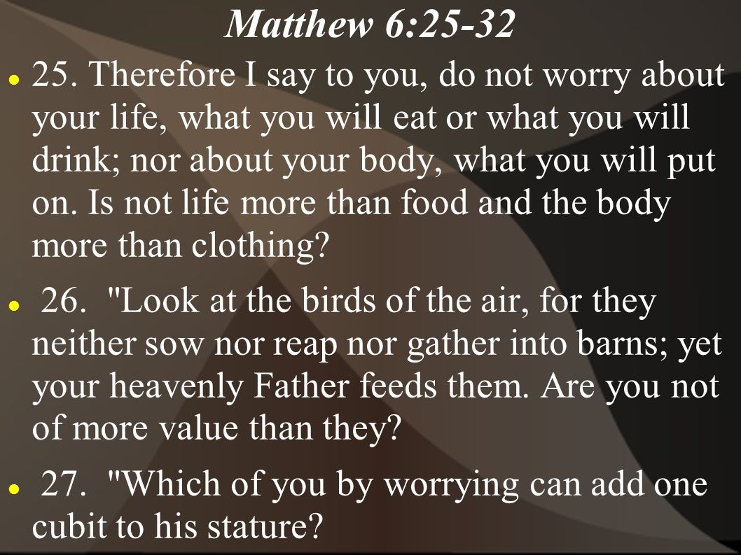 Matthew 6:25-32