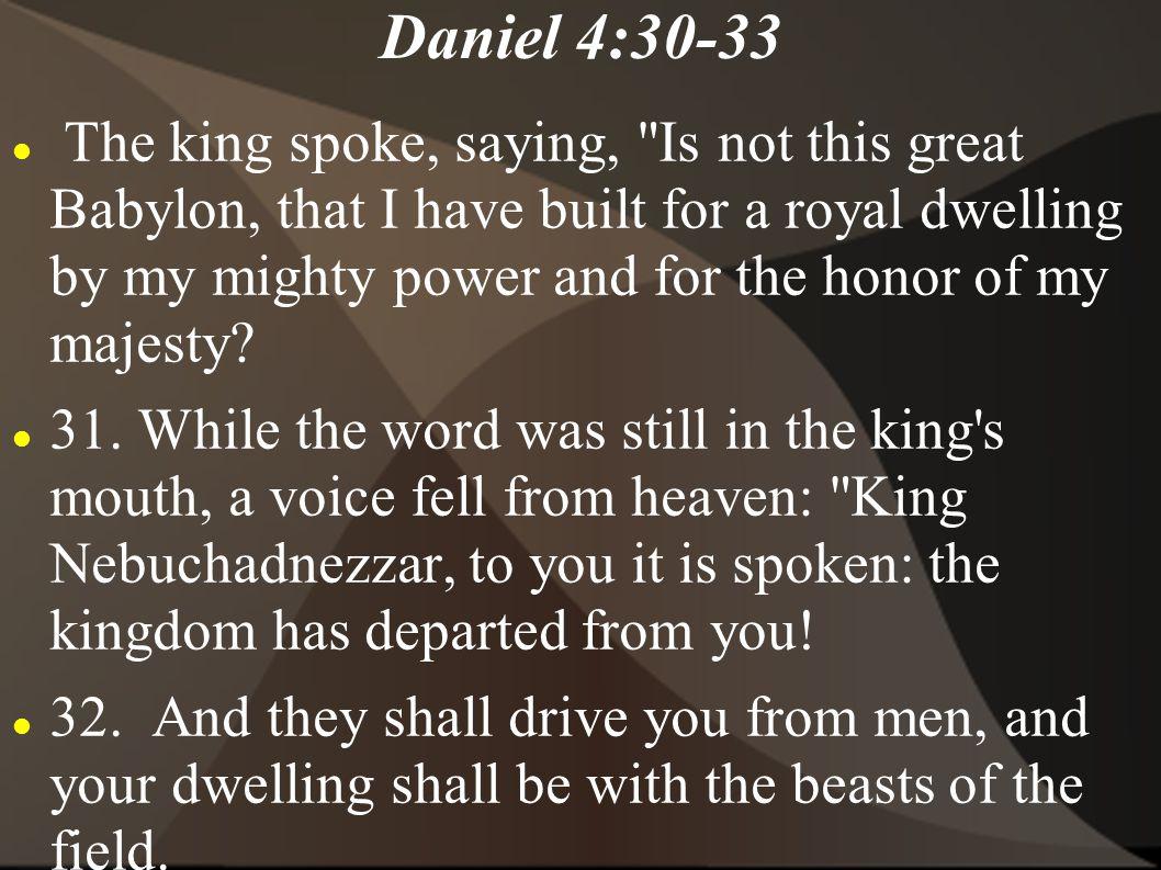 Daniel 4:30-33