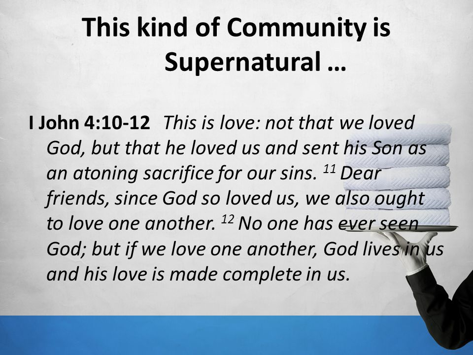 This kind of Community is Supernatural …