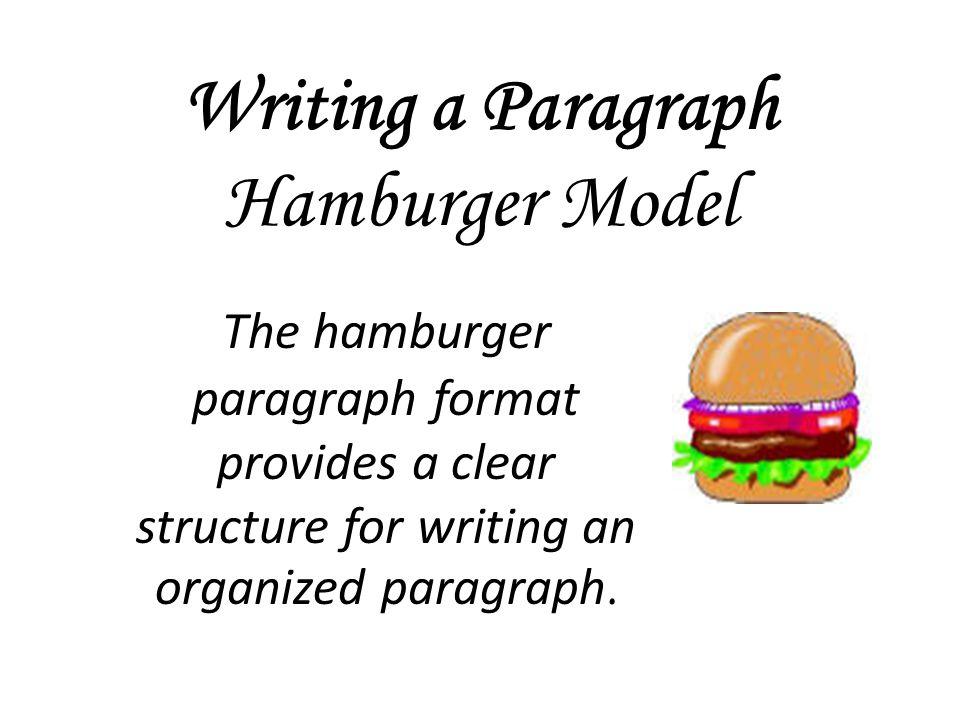 Writing a Paragraph Hamburger Model
