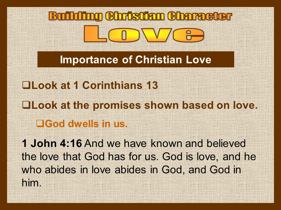 Importance of Christian Love