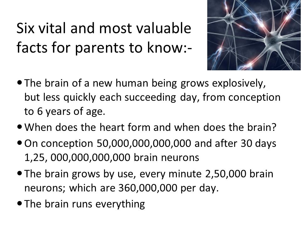 Six vital and most valuable facts for parents to know:-