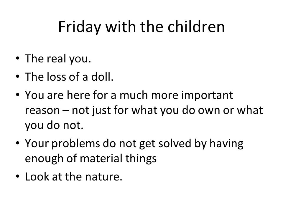 Friday with the children