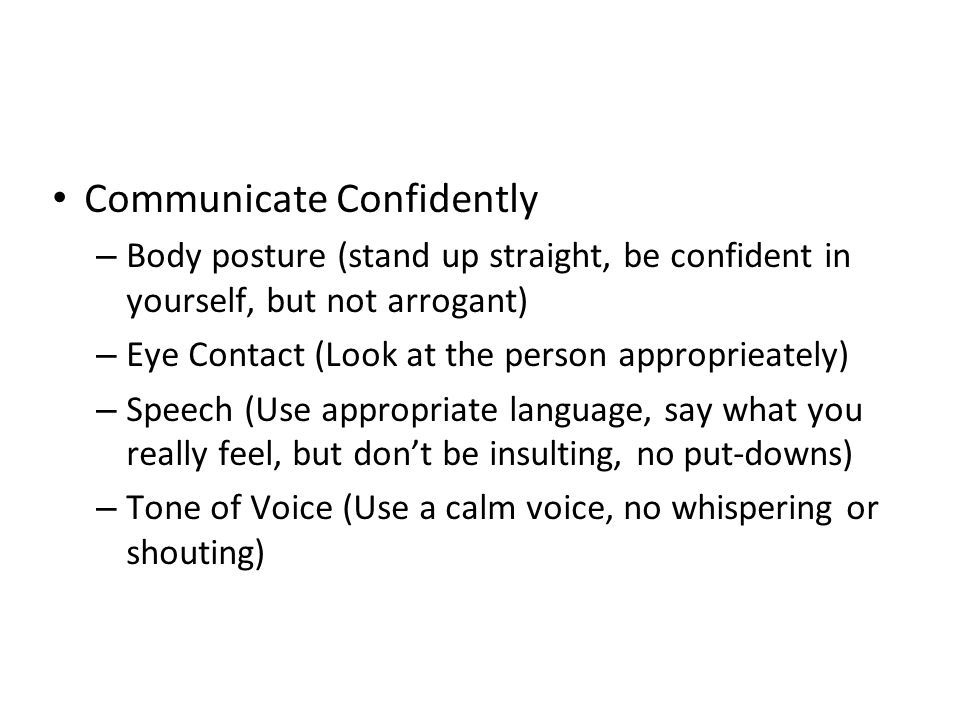 Communicate Confidently