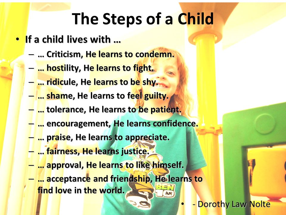 The Steps of a Child If a child lives with …