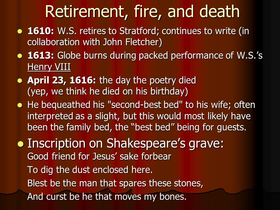 Retirement, fire, and death