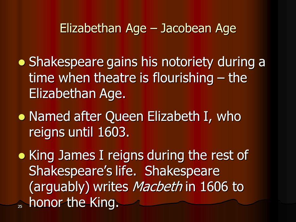 Elizabethan Age – Jacobean Age