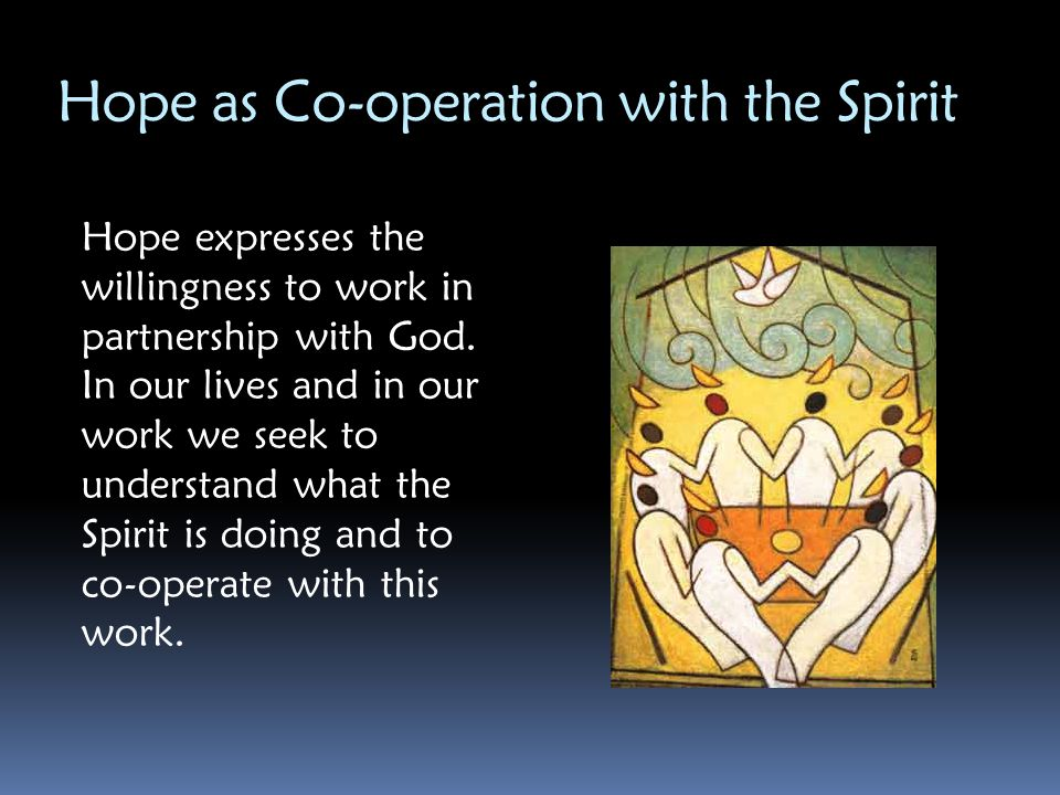 Hope as Co-operation with the Spirit