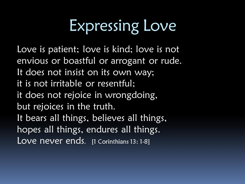 Expressing Love