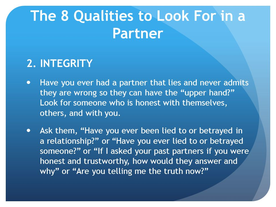 The 8 Qualities to Look For in a Partner