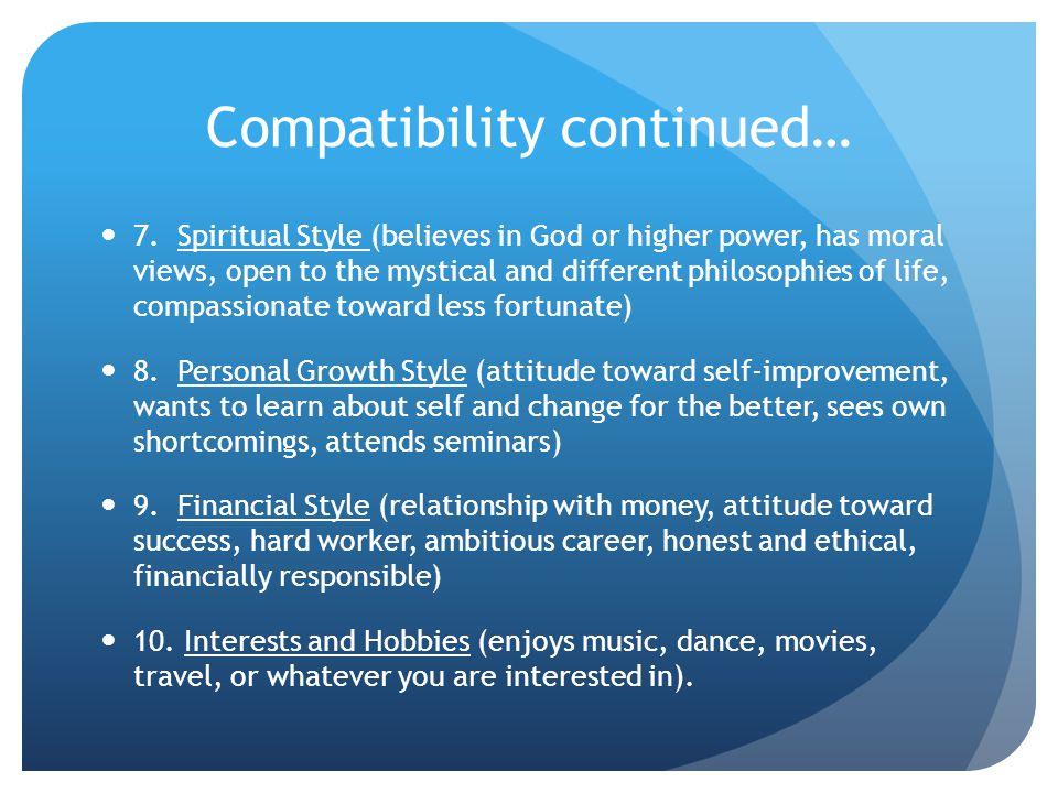 Compatibility continued…