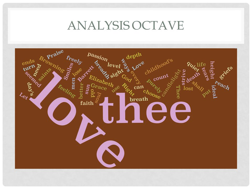 Analysis octave