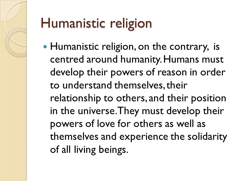 Humanistic religion