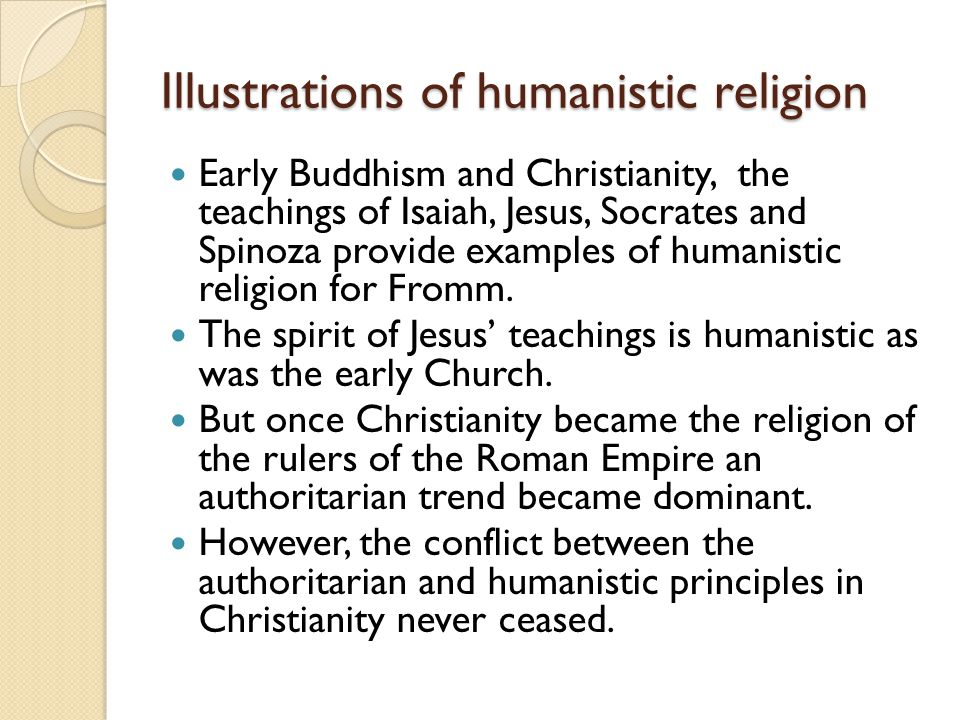 Illustrations of humanistic religion