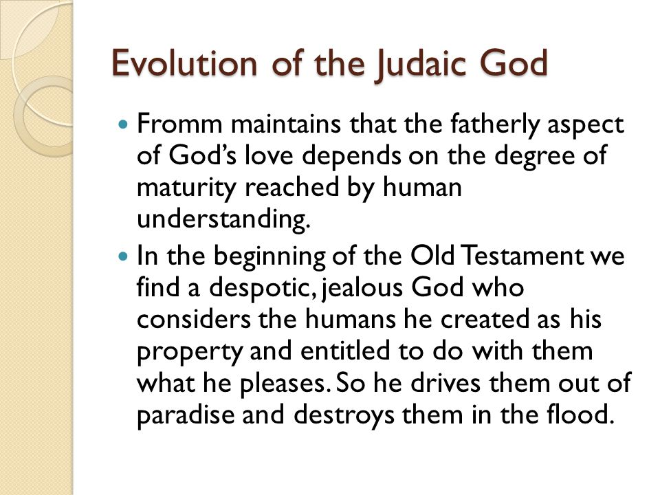 Evolution of the Judaic God