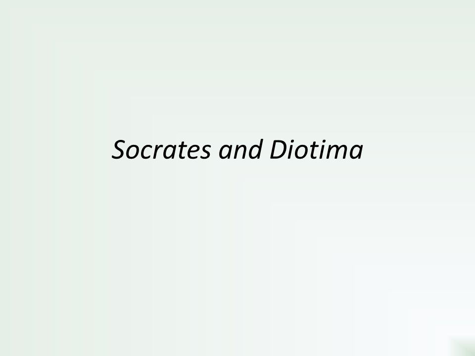 Socrates and Diotima