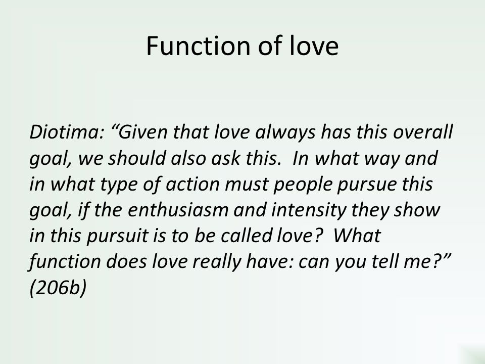 Function of love