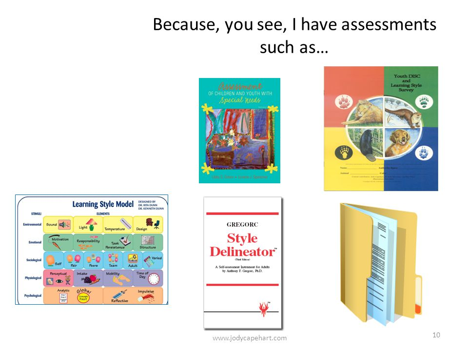 Because, you see, I have assessments such as…