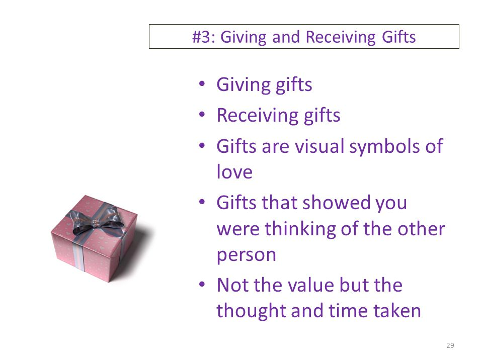 #3: Giving and Receiving Gifts