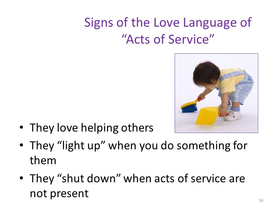 Signs of the Love Language of Acts of Service