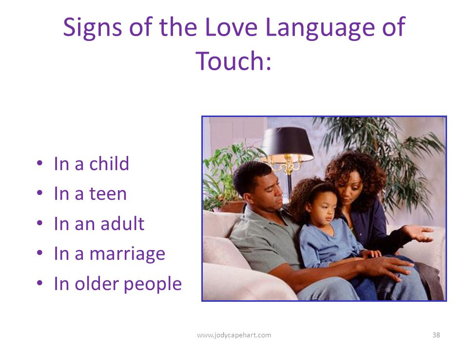Signs of the Love Language of Touch: