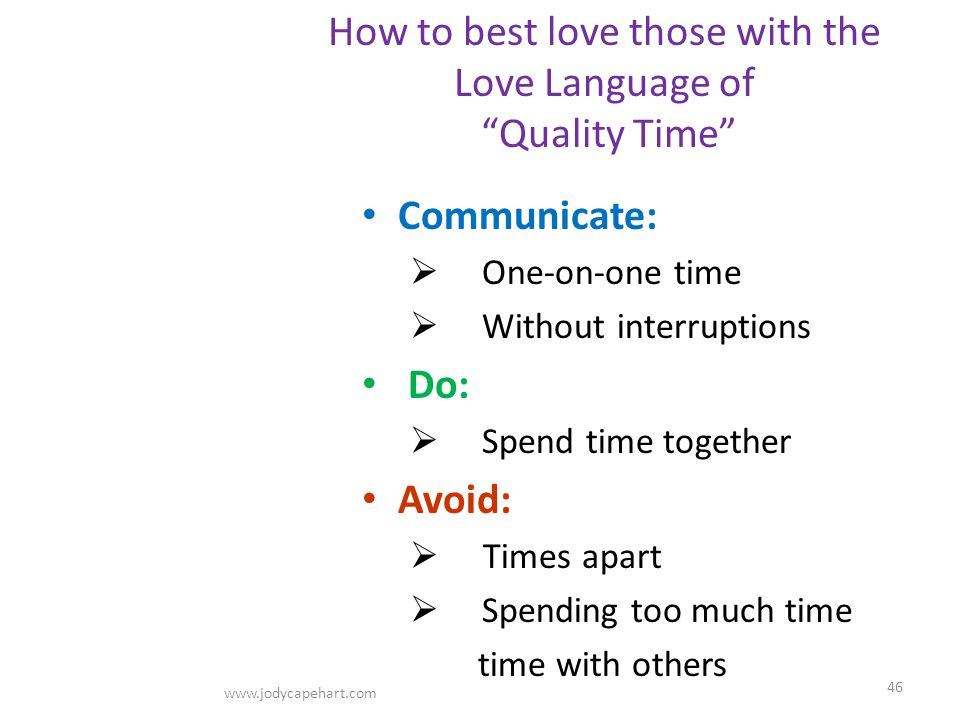 How to best love those with the Love Language of Quality Time