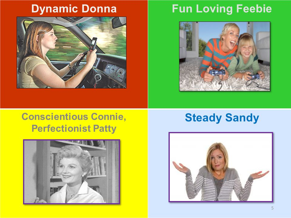 Personalities! Dynamic Donna Fun Loving Feebie Steady Sandy