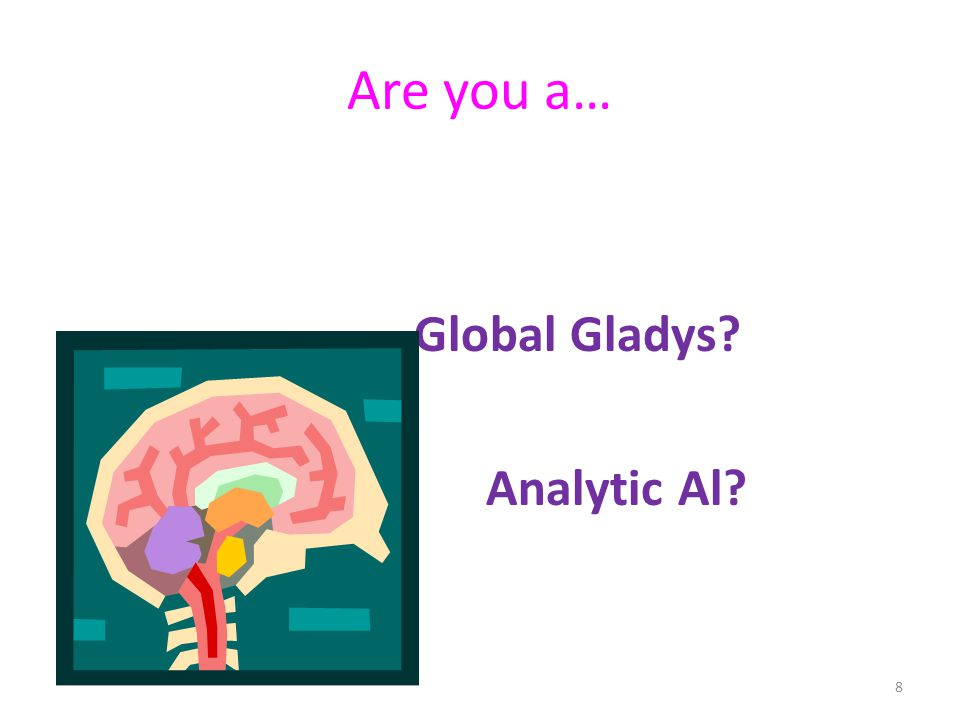 Are you a… Global Gladys Analytic Al