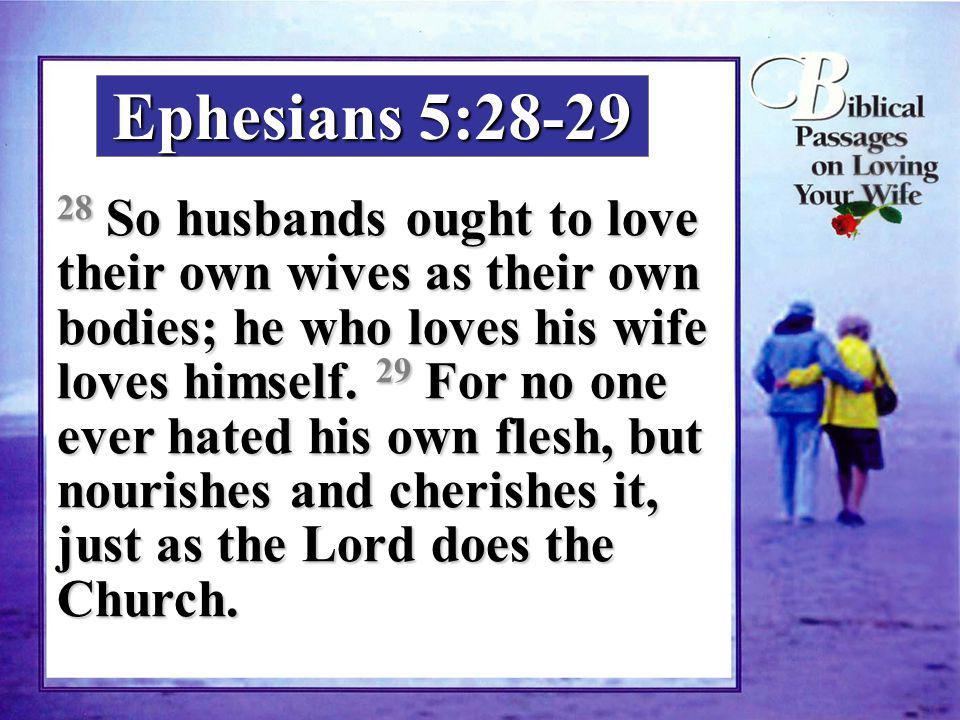 Ephesians 5:28-29