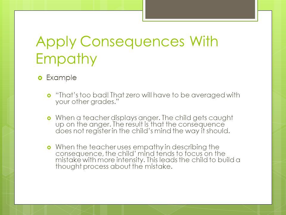 Apply Consequences With Empathy